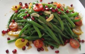 Green Bean & Pomegranite Salad