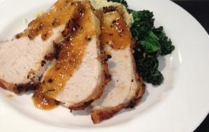 Roast Loin of Pork & Apricot Chipotle Glaze