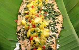 Roasted Side of Salmon & Tropical Salsa