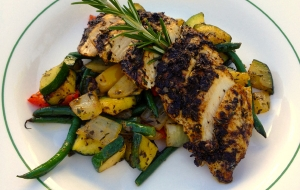 Spiced Grilled Chicken & Sauteed Vegetables