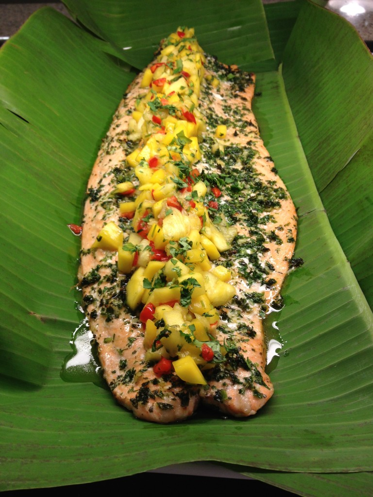 Salmon & Tropical Salsa